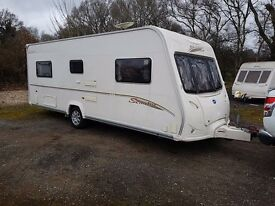 2007 Bailey Senator Oklahoma 4 berth caravan FIXED BED, VGC Light to Tow Awning!