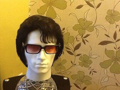 ELVIS  IMPERSONATOR PROFESSIONAL HUMAN HAIR NO LACE FRONT WIG FOR JUMPSUIT - Pro Elvis Jumpsuit