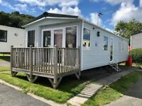 6 Berth Static Caravan for sale with Decking, sea view, parking. Includes all fees at Haven Park