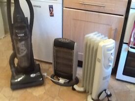 2 Electric Fires & Vax vacumn cleaner.