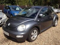 ** NEWTON CARS ** 02 52 VW BEETLE 1.9 TDI, 3 DR, GOOD COND, 111,000 MLS, MOT JUN 2018, P/EX POSS