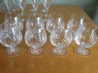 Edinburgh Cut Glass Crystal Glasses & Ships Decanter