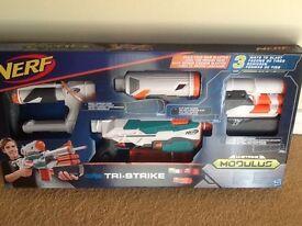 New NERF Modulus Tri-Strike Blaster Toy with Darts £30
