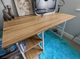 Wood and Metal Nordic Style Desk