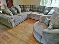 Ask for details BRAND NEW VERONA Corner Sofa In Grey With Scatter Cushions--