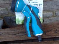 7 pattern spray gun for hose NEW
