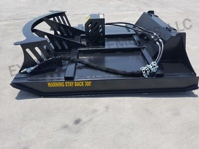 66 Deck-60 Cut Xbc-7 Extreme Skid Steer Brush Cutter-3 Blade-same Day Shipping