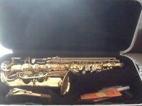 Elkhart series 2 and Intermusic alto saxophones
