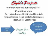 Transit Repairs, Servicing ,Engine rebuilds, All Mechanical and Electrical Repairs.