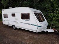 Abbey GTS Vogue 415 4 berth caravan 2007 ,FIXED BED, Awning, Bargain !!