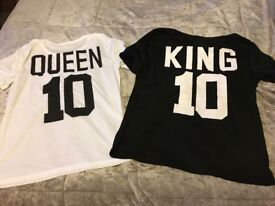 King & Queen T-Shirts Small