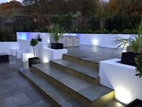 Premium Light Grey Smooth Indian Sandstone Paving Slabs | Garden Patio | 19m2