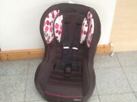 Kiddicare group 0+1 car seat for newborn upto 18kg(to 4yrs)-reclines,has reversible padded insert