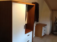 Small Wardrobe with drawers and mirror