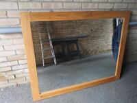 Oak Framed Mirror - Extra Large