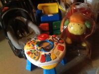 Baby bundle, equipment and toys