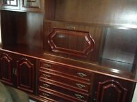 Large Mahogany cabinet & chest of drawers