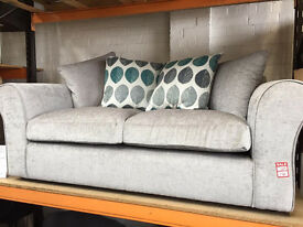 brand new 2 seater sofa with scatter cushions save up to 70 % on rrp