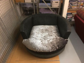 Huge rotating chair.