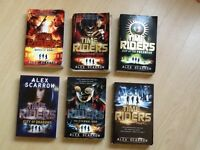 Time Riders by Alex Scarrow, book set.