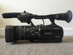 Sony HVR-V1P Video camera kit with tripod and bag Coburg Moreland Area Preview