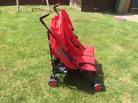 ZETA CITI TWIN- Buggy (red and black)