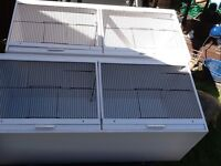 Budgie double breeding cages uvpc. Easy clean