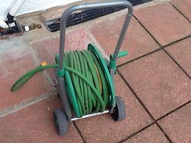 Rolling garden hose