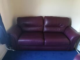 Large Leather sofa and 1 arm chair