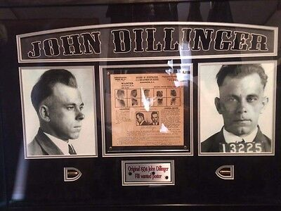 authentic john dillinger wanted poster