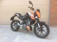 KTM Duke 125 2011 12 Months MOT Yamaha R125 RC125 Honda CB125 CBF125 Aprilia RS RS4 Rieju YBR CBR