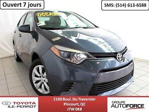 2016 Toyota Corolla *1.9%* LE CVT, A/C, SIÈGES CHAUF, CAM RECUL,