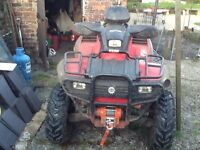 Canam quad 650bombidier4x4 2seater very fast with winch
