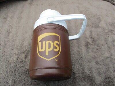 b540566f45 Vintage UPS Coleman Thermos Water Bottle Jug Cooler Brown Logo United  Parcel Ser