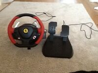 Xbox one Ferrari steering wheel and peddals