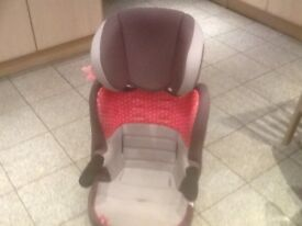 £25-lightweight full highback booster car seat for 4yrs upto 12yrs(15kg to 36kg weight of child)