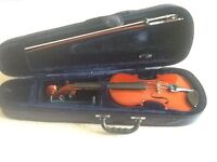 Half size Primavera violin with bow and hard case