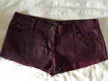Maroon Denim Short Shorts Kyneton Macedon Ranges Preview