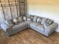 SUPER OFFER 39% OFF COUCHES IS STOCK😮 💯BRAND NEW💯 BARON CHESTERFIELD CORNER SOFA ON SALE ORDER