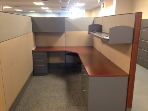 Used Office Cubicles, Haworth Premise Cubicles 6x8