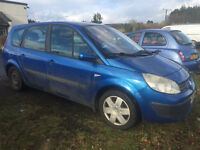 S.E.V.E.N. SEATER SENIC , 4 MONTH M,O,T, DRIVE'S SUPERB 130000 MILE'S £599 TO CLEAR ,