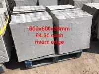 2x2 rivern edge concrete paving slabs