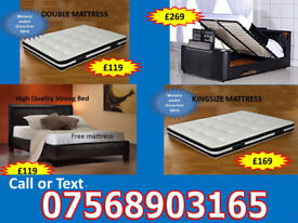 BED BRAND NEW DOUBLE TV BED MATTRESS DOUBLE KING FAST DELIVERY 575