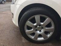 "16"" vw alloy wheels with 205-55-16 mitchlin tyres"