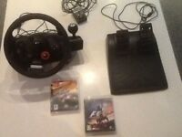 PS3 STEERING WHEEL & PEDALS