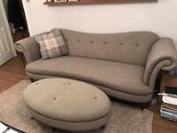Grey DFS Sofa and Stool