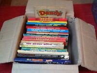 Box of old Beano and Dandy books