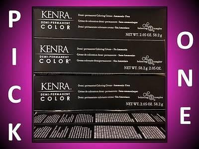 KENRA DEMI-PERMANENT COLORING CREME HAIR COLOR AMMONIA FREE 2.05 OZ / LEVEL (Degree 7 Sunglasses)