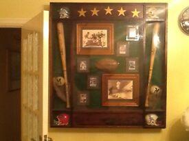USA baseball display Cabinat bespoke design