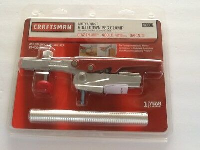 Craftsman Auto Adjust Hold Down Peg Dog Hole Clamp Horizontal Bench Top Woodwork